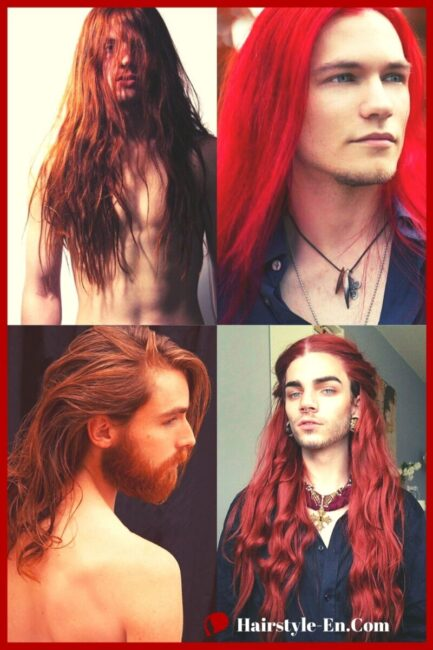 Long Red Hair Male Model Ideas for 2021 Long Hairstyle