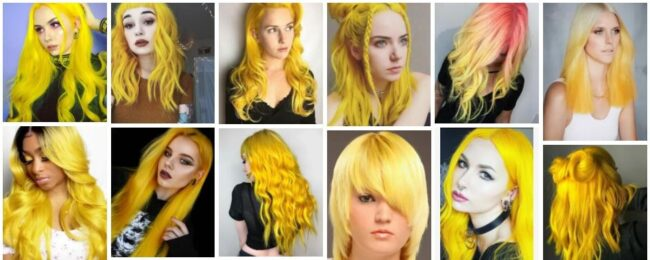 Yellow Hair Ideas & Yellow Hair Dye Trends ** New 2021-2022 Hairstyle