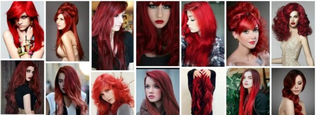 Blood Red Hair Color Ideas for Short Hair ***2021 Trend Blood Red Ombre Hairstyles Short Hairstyle