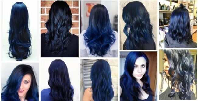 Midnight Blue Hair Color & Midnight Blue Hair Dye Permanent Ideas *2021 New Hairstyles Women Hairstyle