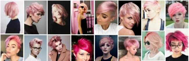 Short Pink Hairstyles for Black Hair Ideas **2021 New Pink Hairstyles Short Hairstyle