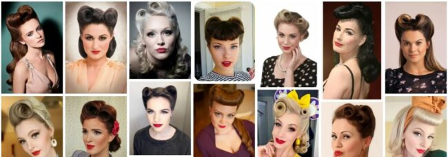 Victory Rolls Hairstyles Tutorial Ideas for Women Hair **2021 Short Hair Victory Rolls Women Hairstyle