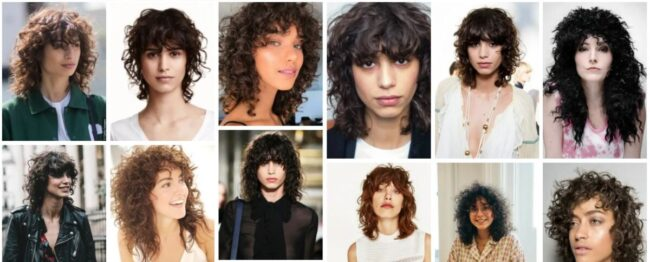 Curly Mullet Woman Ideas for Bob Hair **2021 Trend Curly Mullet Hairstyles Bob Frisuren