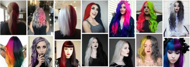 Half and Half Hair Color Ideas for Hair Dye **2021 New Hairstyles Women Hairstyle