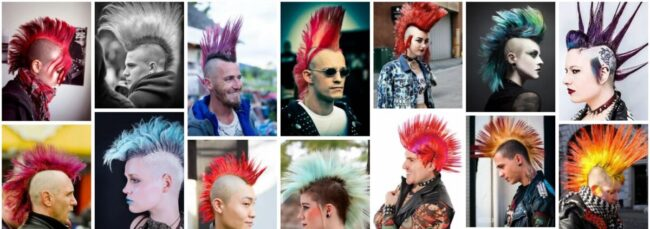 Punk Mohawk Hairstyles for Long Hair **2021 New Design 80s Punk Mohawk Long Hairstyle