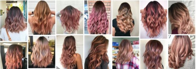 Rose Gold Balayage Hairstyles for Brown Hair ***2021 Stunning Rose Gold Balayage Ombre Hair Women Hairstyle