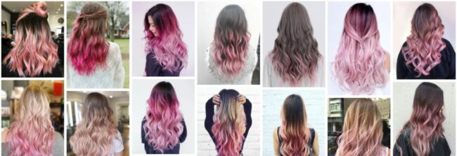 Pink Ombre Hair Color Ideas for Short Hair ***2021 New Pink Ombre Hair Semi Permanent Dye Short Hairstyle